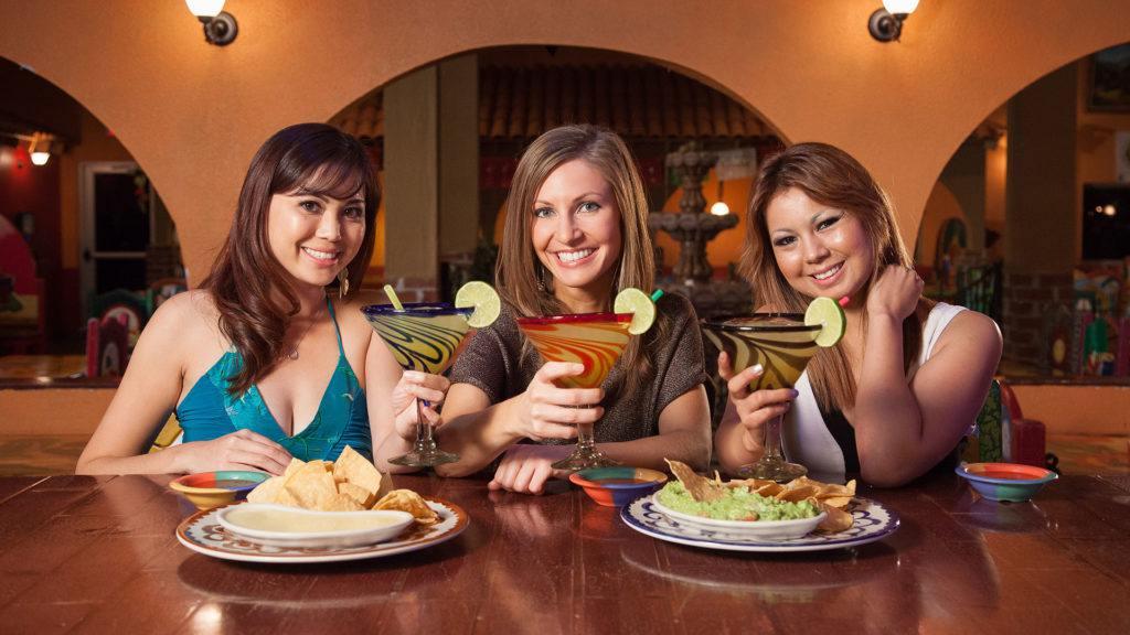 Three women enjoying Happy Hour at La Mesa Mexican Restaurant