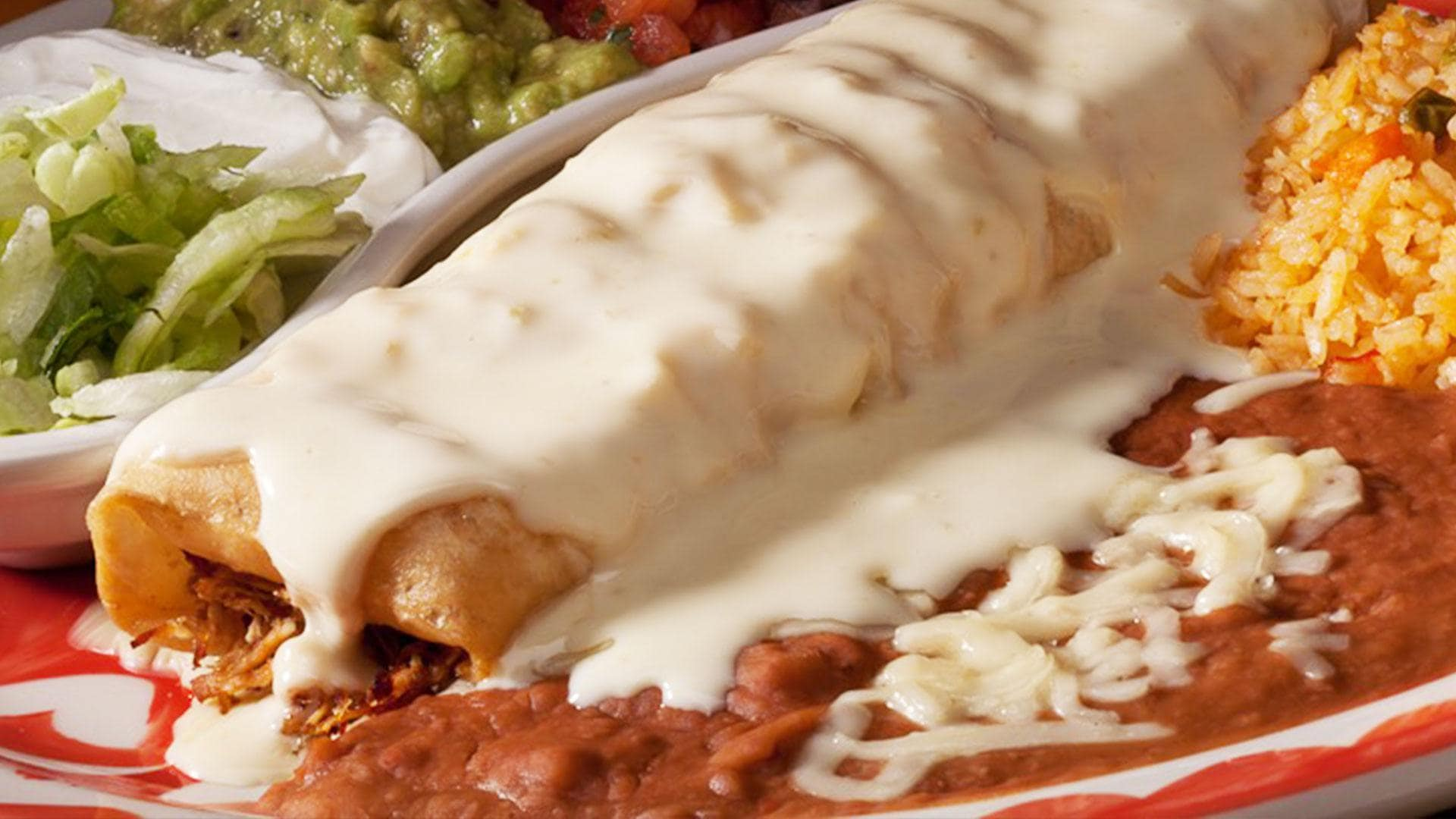 Chimichanga from La Mesa Mexican Restaurant